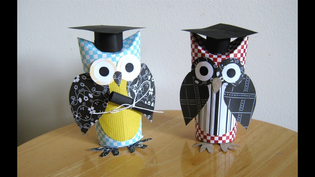 Graduation Card Ideas To Make Part - 32: Make A Graduation Owl Gift Card, With A Toilet Paper Tube - YouTube