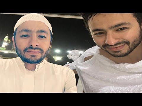 6ad3e9d3c  شاهد الفنان حمادة هلال بملابس الاحرام برفقة والدته ويدعو لها بالشفاء ويظهر  مع شقيقه لأول مرة - YouTube