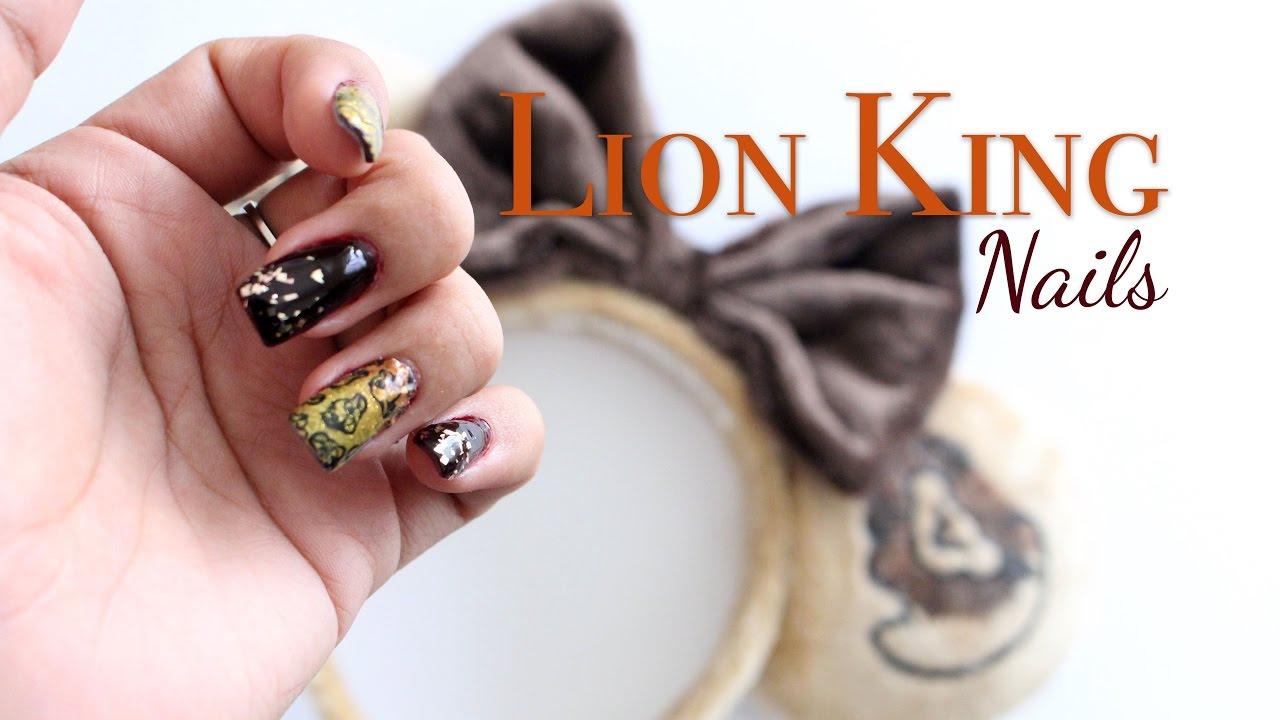 Lion King Nails   Disney Beauty   Paola Julissa - YouTube