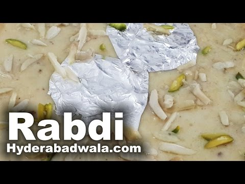 Rabdi Recipe Video – How to Make Hyderabadi Rabri sweet at Home – Easy & Simple Cooking