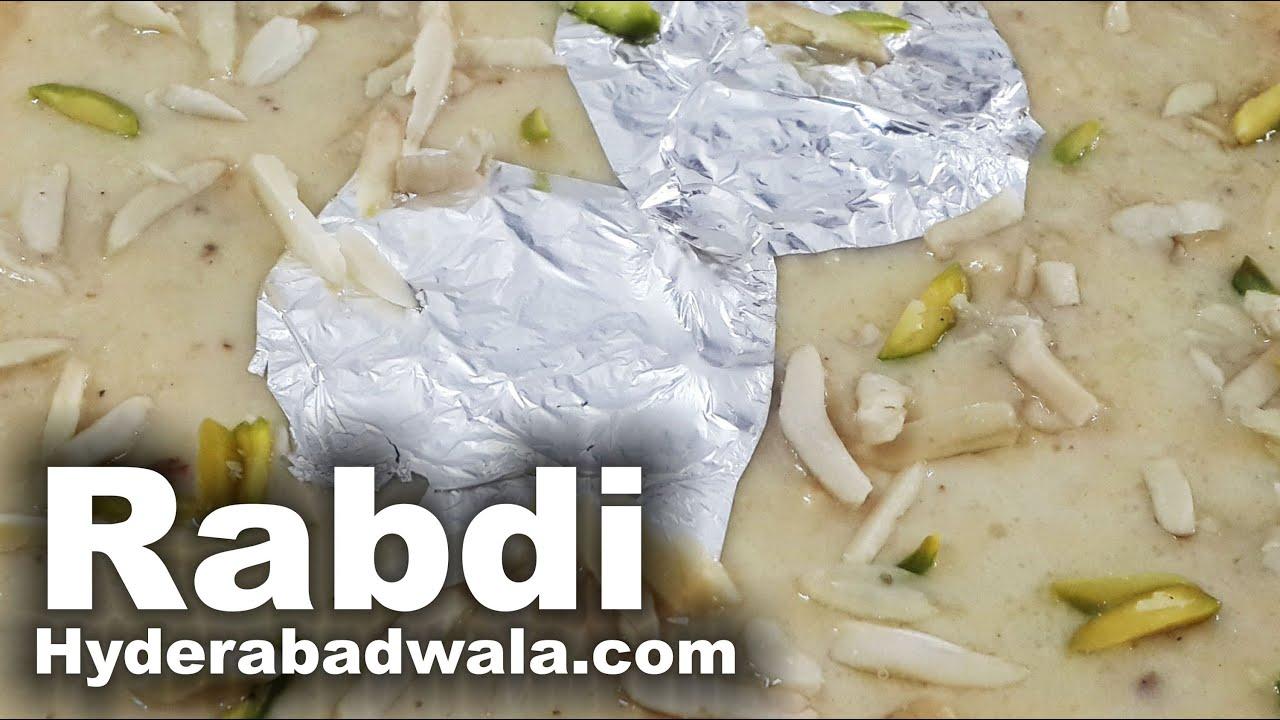 Rabdi Recipe Video How To Make Hyderabadi Rabri Sweet At Home Easy Simple Cooking Youtube