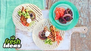 Easy Mexican Recipe – Grilled Chicken Tostadas