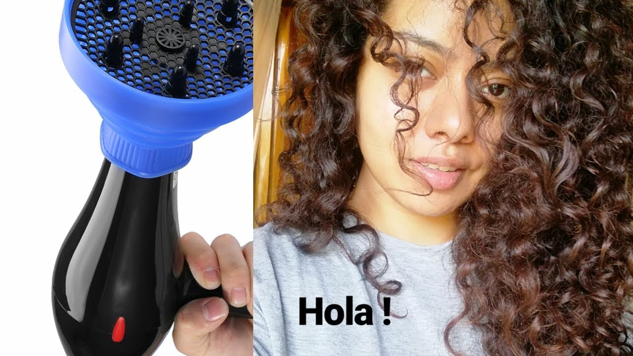 How To Style Curly Wavy Hair Using Blow Dryer Diffuser Basic Hair Grooming Youtube