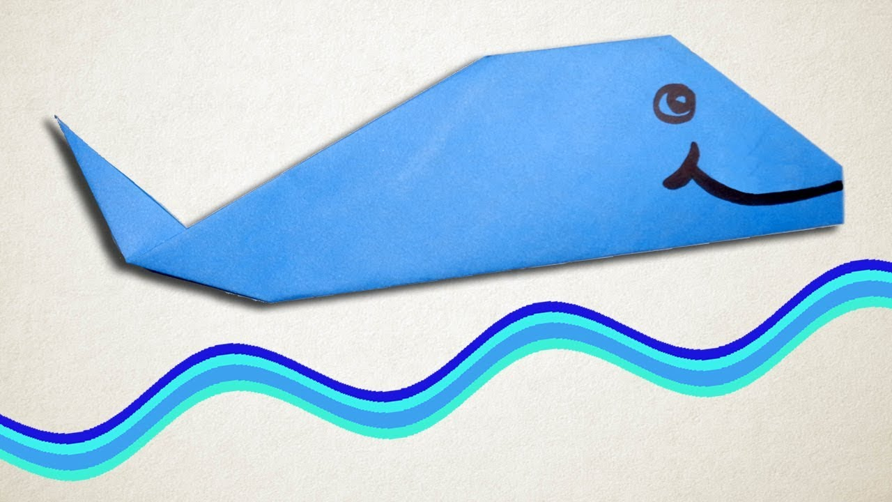 How To Make Paper Blue Whale