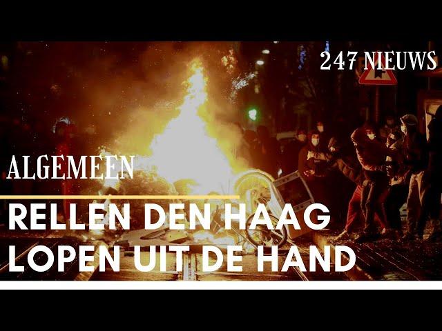 Veel jongeren bijeen tijdens rellen in Den Haag | 247 Nieuws
