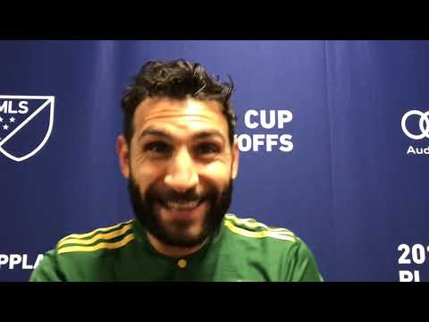 Portland Timbers midfielder Diego Valeri talks about scoring twice in playoff win over Dallas