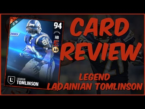 MUT 17 Card Review   Legend Ladainian Tomlinson Gameplay + Card Review