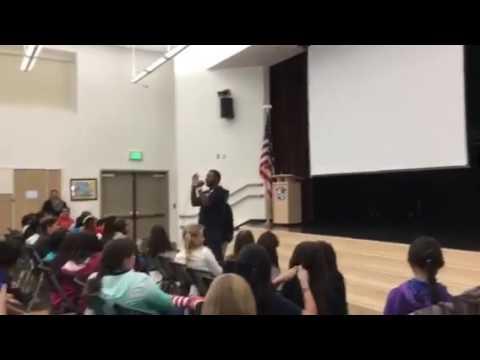 Quizz Swanigan sings for Malcolm Jamal Warner @PRCS Who's Lovin You