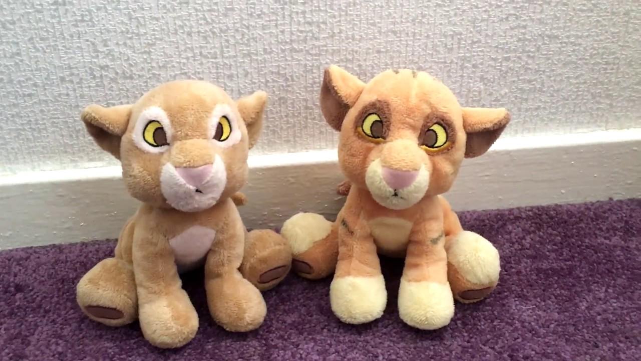Lion King Disneystore Baby Simba And Nala Plush Review Youtube