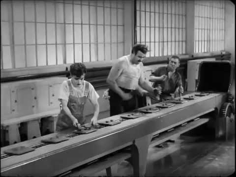 Chaplin Modern Times - Factory Scene (HD - 720p)