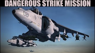 EXTREMELY TOUGH Naval Bombing & SEAD Mission | Harrier & Su-33 | DCS