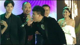 Trấn Thành, Tiến Luật, Gin Tuấn Kiệt, Anh Tú hát mừng đám cưới Đạo diễn Nhất Trung