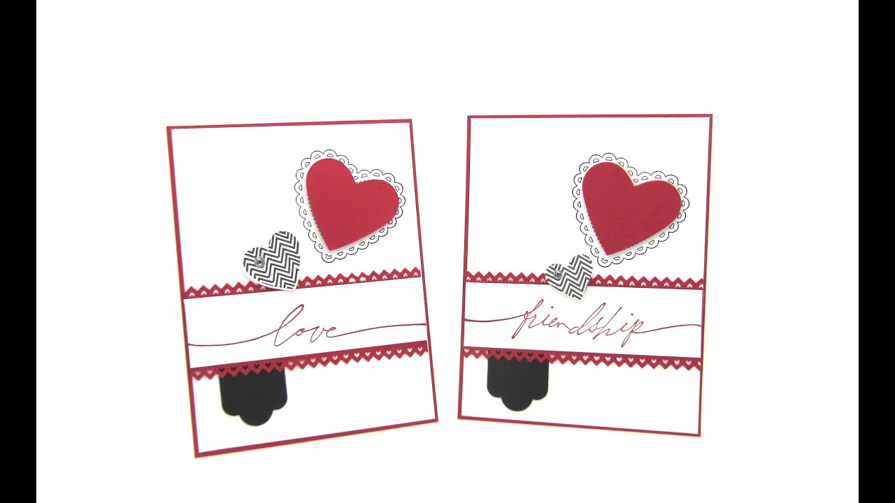 stampin up hearts a flutter card for valentines day - Stampin Up Valentine Cards