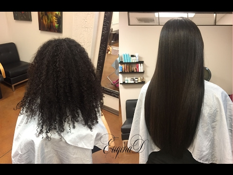 Natural Hair with Microlink Extensions braidless sewin