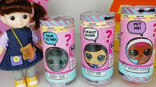 Baby Doll LOL Surprise eggs and Talking Interactive LIVE Pet Blind Bags toys pororo play - 토이몽