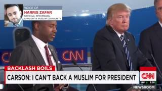 Ahmadiyya Muslim Community representative Harris Zafar about Ben Carson's anti-Muslim comments