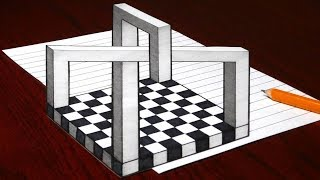 How to Draw an Impossible 3D Object - Trick Art Optical Illusion