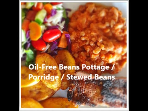how-to-make-delicious-healthy-oil-free-stewed-beans-|-beans-porridge-|-beans-pottage