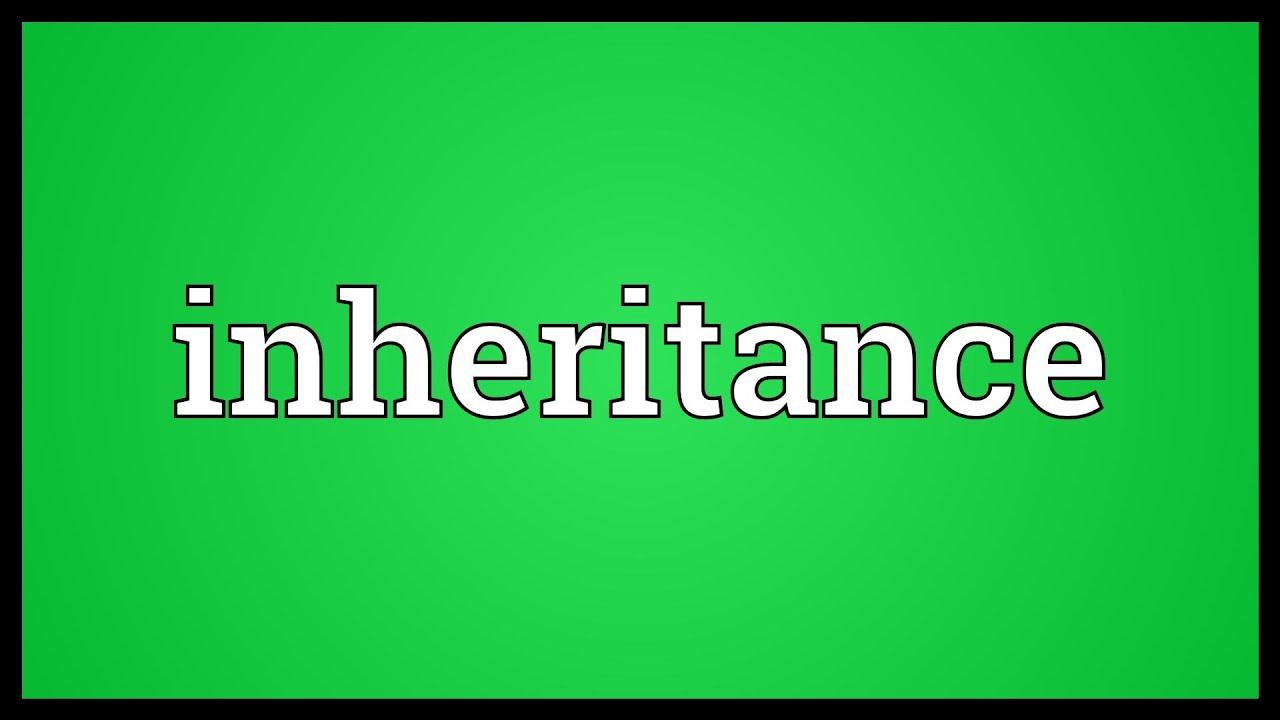 Inheritance Meaning