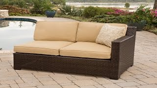 Patio Furniture - Metropolitan 2-piece Outdoor Lounging Set, Includes 2 Deep-cushioned Loveseats