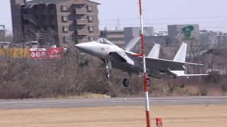 2機のF15がテスト飛行にところが・・・(名古屋空港小牧基地)