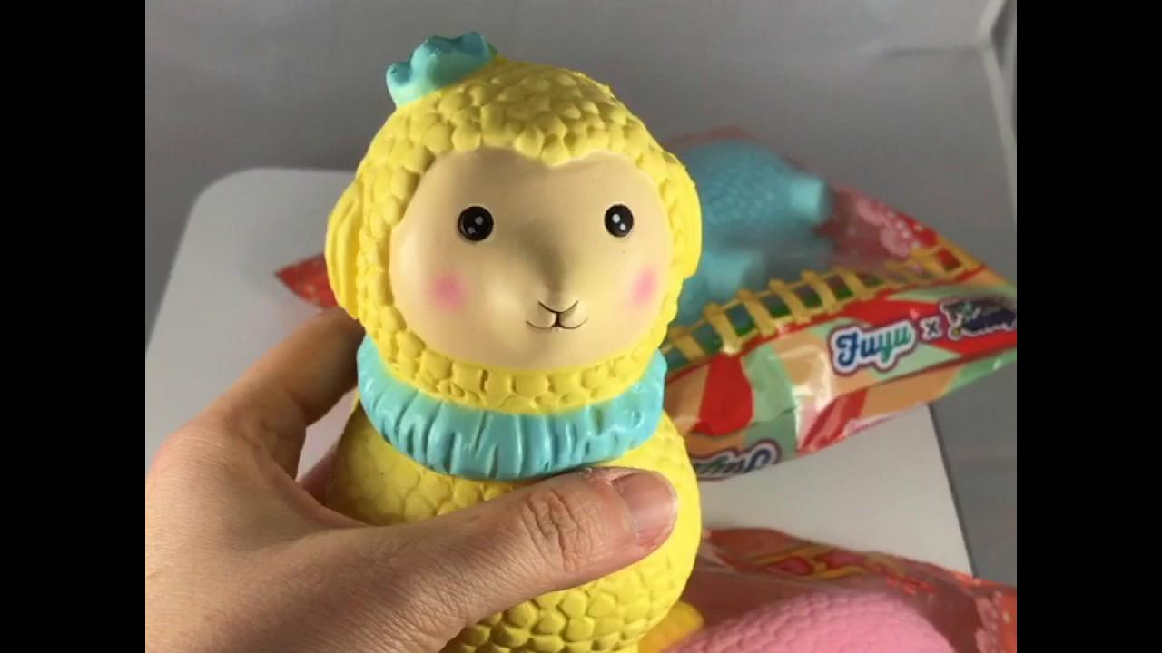 Alpaca Amigurumi Patron Gratis : Toysboxshop scented and big alpaca squishy jenna lyn youtube