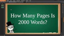 How Many Pages Is 2000 Words