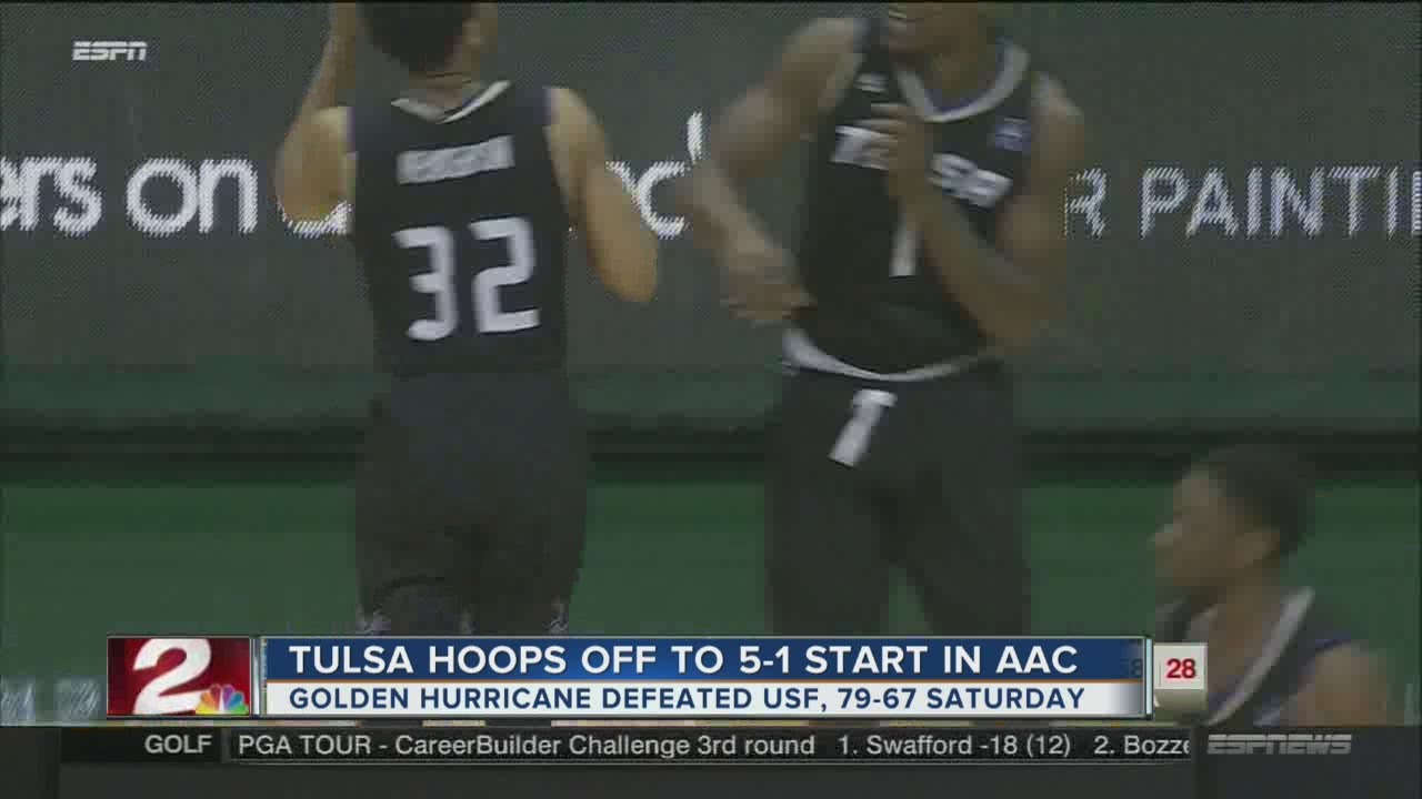 new style 7ec62 2447d Tulsa Golden Hurricane off to 5-1 start in AAC play