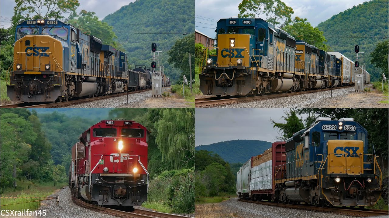 Download Amazing Day on CSX! EMD Trios,CP ACU Leaders, & CSX #4814 Leading!
