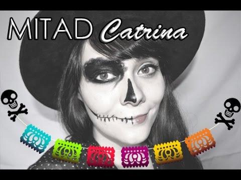Halloween Make Up Catrina Mitad De Cara Catrina Maquillaje Fácil