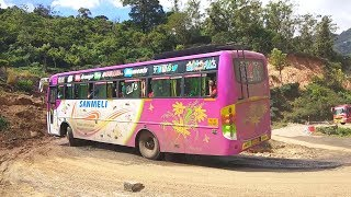 Munnar Hills : Touris Bus And Ato Car Turning On Hairpin Bend kumily to Munnar Road