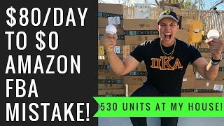 This 1 MISTAKE Will Get Your Amazon Listing Taken Down! *500+ units at my house NOW*