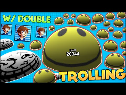 AGARIO 3D TROLLING WITH DOUBLE! THE BIGGEST CELL ON THE SERVER - 20 000+ MASS! (Agar.io 3D #95)