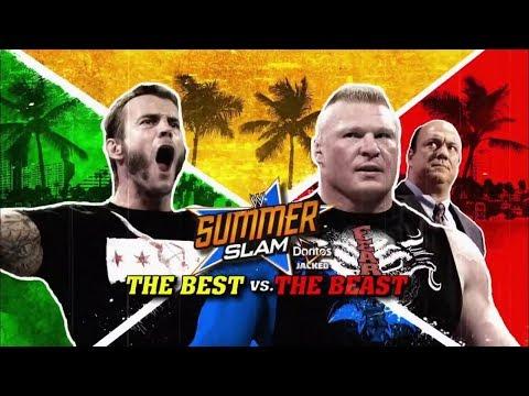Brock Lesnar vs CM Punk summerslam 2013...