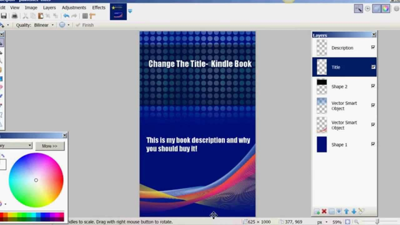 Book Cover Template Paint : How to add a title kindle book cover template using
