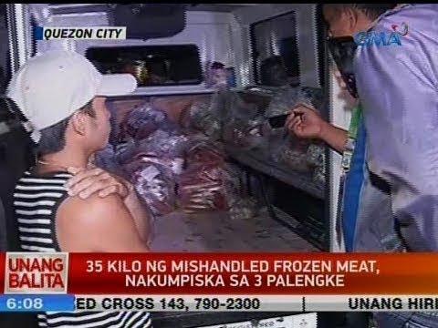 UB: 35 Kilo Ng Mishandled Frozen Meat, Nakumpiska Sa 3 Palengke