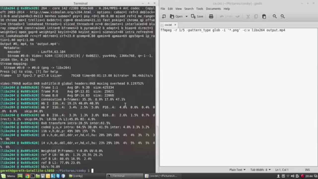 multiple images to one video with ffmpeg