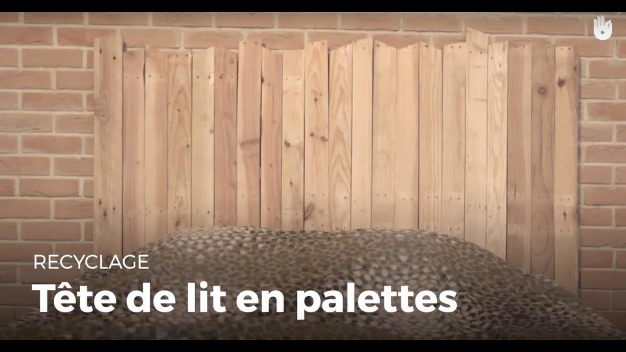 Fabriquer Une Tete De Lit En Palette Recycler Youtube
