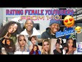 RATING FEMALE YOUTUBERS 1-10! 😍😋ft. KENNEDY RAE, YUNGNENA, ABBY NICOLE, MARIAH MILLIAN AND MORE!
