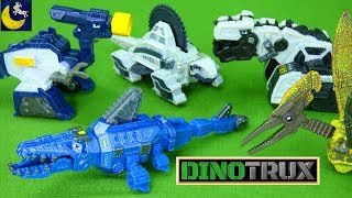 Dinotrux Diecast Toys! Aquadon Shark Pounder Splitter D-Strux Garby Bath Time Dinosaur Fighting Toys