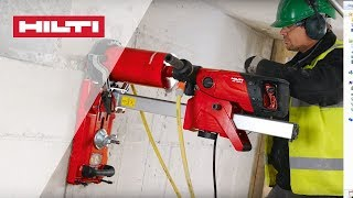 HOW TO use the Hilti DD 150 coring tool for rig-based wet drilling in concrete