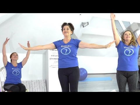 Stretch 2 Levels + Chair Option, Holistic Christian Fitness Stretching = Body Soul Spirit Well Being