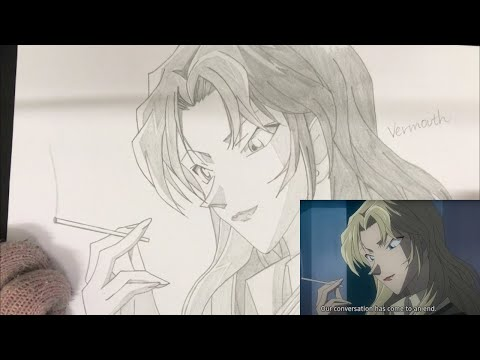 drawing-vermouth-(detective-conan)-手描き-名探偵コナン-ベルモット