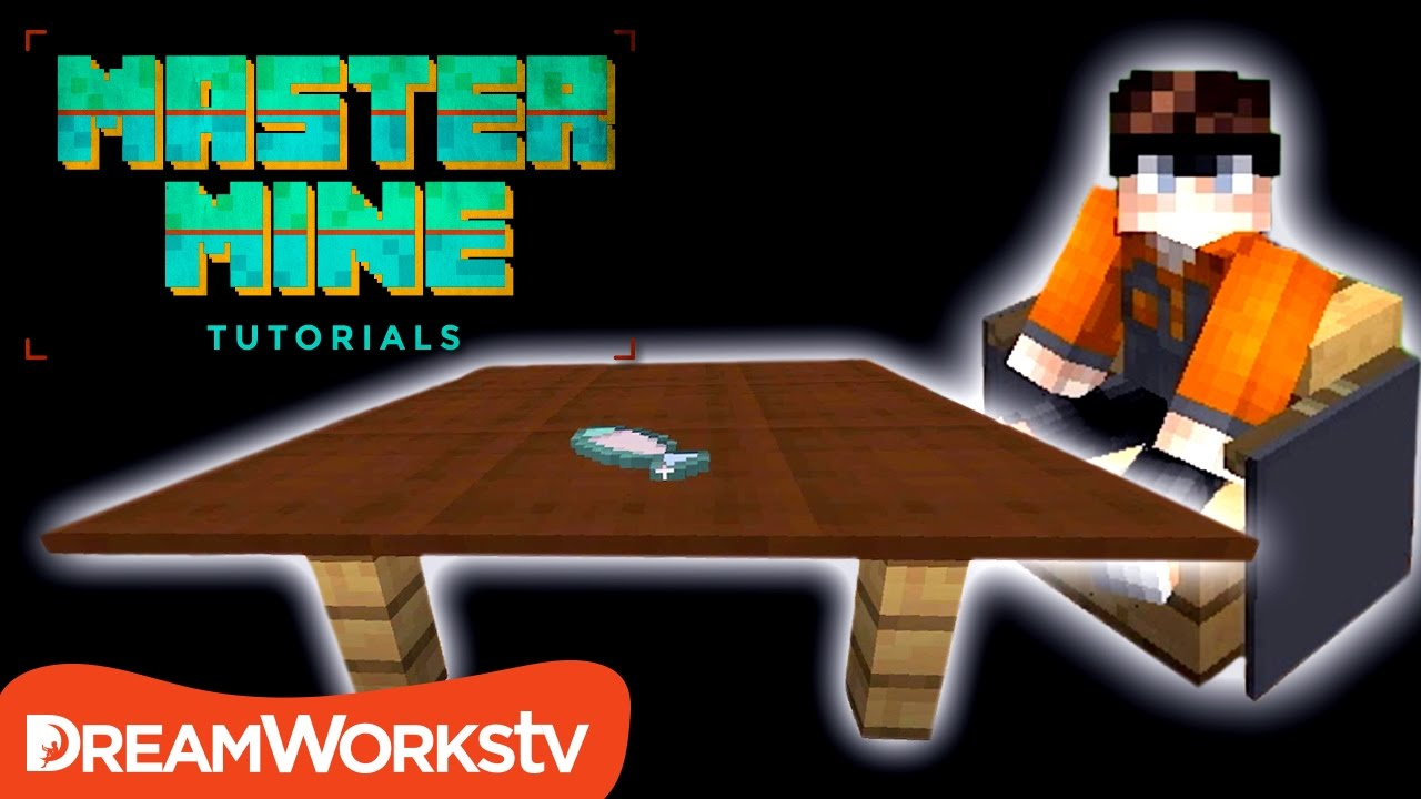 How To Make Working Table Chairs In Minecraft Master Mine Tutorials Youtube