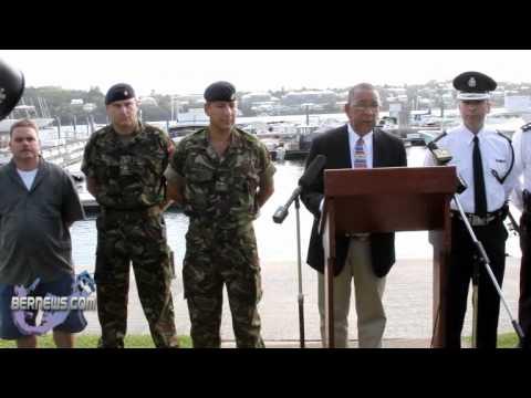 Bermuda Police Handover Boat to Regiment