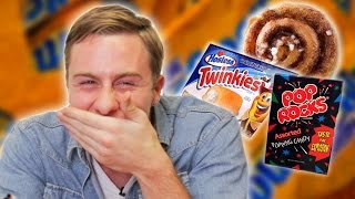 Repeat youtube video Australians Taste Test American Sweets