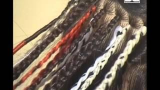 видео Плетение африканских косичек с нитками. Weaving.