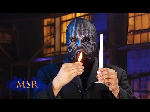 MASKED MAGICIAN PLAYS WITH FIRE-- BUT DOESN'T GET BURNT!