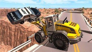 Collapsing Bridge Pileup Car Crashes #21 - BeamNG DRIVE | SmashChan