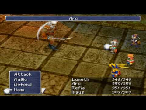 Ff3 Ds Low Level Game Part Iii Goldor Garuda And Titan Youtube